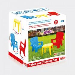 DOLU Kerti asztal székekkel - 37x37x31 cm - Kerti és vízes játékok - Kerti és vízes játékok Dolu