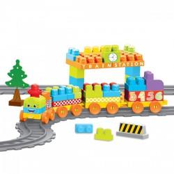 DOLU Vonat építőjáték 85 darabos készlet - Pályák, kisautók - Bébijátékok Dolu