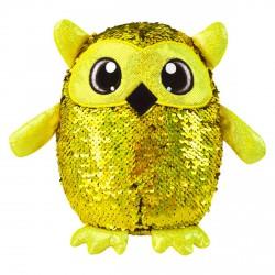 Simiflitter bagoly figura - 20 cm, arany - piros - Simiflitter plüssök, játékok - Plüss és állat,-mesefigurák Simiflitter