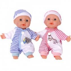 Játékbaba csíkos pizsamában - 20 cm, többféle színben - Lányos játékok - Lányos játékok