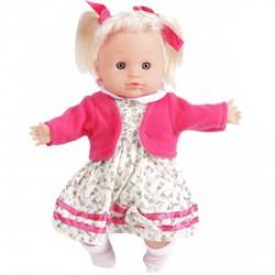 Hajas játékbaba virágos ruhában - 30 cm - Lányos játékok - Lányos játékok