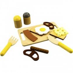 Fa reggeliző vágható készlet - Fajátékok - Fajátékok