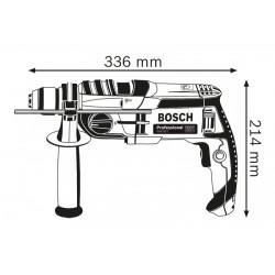BOSCH GSB 20-2 kétfokozatú, vezetékes ütvefúró KickBack Control funkcióval 060117B400 - BOSCH ipari termékek