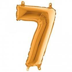 7 szám fólia lufi - arany, 36 cm - Lufik - Lufik