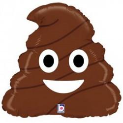 Kaki Emoji Poo fólia lufi - 45 cm - Lufik - Lufik