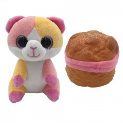 Süti állatkák kifordítható plüssfigura - 10 cm, Desszert Detti - Sweet Pups/Süti kutyusok - Plüss és állat,-mesefigurák Süti állatkák plüssök