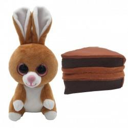 Süti állatkák kifordítható plüssfigura - 10 cm, Csoki Nyuszi - Sweet Pups/Süti kutyusok - Plüss és állat,-mesefigurák Süti állatkák plüssök