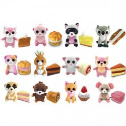 Süti állatkák kifordítható plüssfigura - 10 cm, Fánk Fanni - Sweet Pups/Süti kutyusok - Plüss és állat,-mesefigurák Süti állatkák plüssök