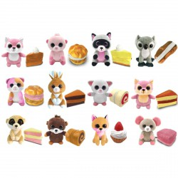 Süti állatkák kifordítható plüssfigura - 10 cm, Citrom Cili - Sweet Pups/Süti kutyusok - Plüss és állat,-mesefigurák Süti állatkák plüssök
