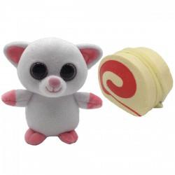 Süti állatkák kifordítható plüssfigura - 10 cm, Rolád Roli - Sweet Pups/Süti kutyusok - Plüss és állat,-mesefigurák Süti állatkák plüssök