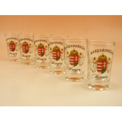 6 db stampedlis pohár (címres) -Bögrék - Bögrék