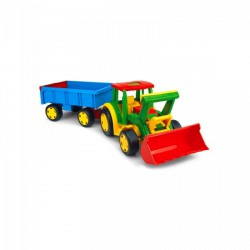 Wader Óriás traktor utánfutóval és tolólappal - Wader játékok - Bébijátékok Wader