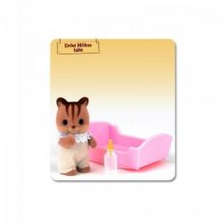 Sylvanian Families: Erdei Mókus bébi rózsaszín - Sylvanian families játékok - Lányos játékok