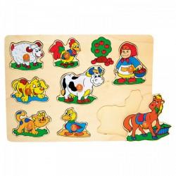 Fajáték: Fogantyús puzzle (bárányos) - Az első fajátékaim - Az első fajátékaim