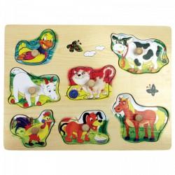 Fajáték: Fogantyús puzzle (kacsás) - Az első fajátékaim - Az első fajátékaim