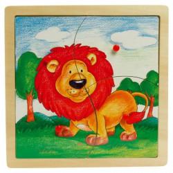 Fajáték: Fogantyús puzzle (4 db-os, oroszlános) Játék - Az első fajátékaim