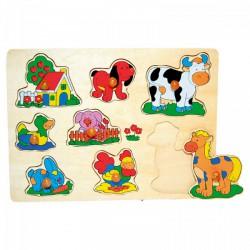 Fajáték: Fogantyús puzzle (házikós) - Az első fajátékaim - Az első fajátékaim
