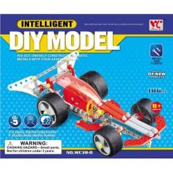 Fémépítő Intelligent versenyautó 186 darabos építőjáték - Fémépítők - Építőjátékok