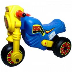 Műanyag Cross kismotor - kék-sárga - Kerti és vízes játékok - Járművek