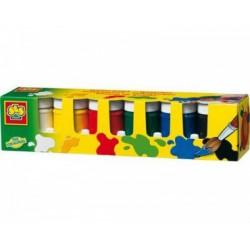 SES - Tégelyes festék, 6x50ml - Tudomány és kreatív játék - SES kreatív játékok