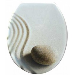 QUADRAT WC ülőke, MDF, Zen mintás - Fürdőszobai kiegészítők Quadrat