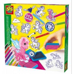 SES - Nyomda szett - pónik 14910 - Barkácsolós játékok - Barkácsolós játékok