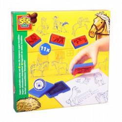 SES - Nyomda szett - lovacskák 14912 - Barkácsolós játékok - Barkácsolós játékok