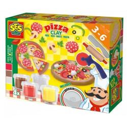 SES - GYURMA szett - pizza készítő 00445 - Tudomány és kreatív játék - SES kreatív játékok