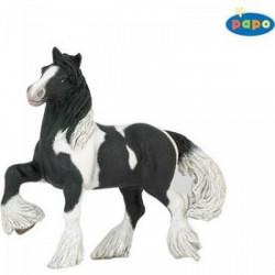 Papo - Fekete-fehér ló figura - PAPO figurák - PAPO figurák