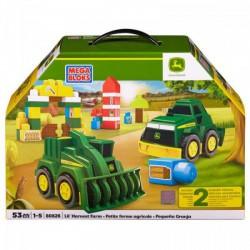 Mega Bloks - Kis farm és John Deere járgányok Játék - Bébijátékok