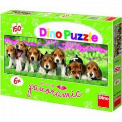 DINO - Puzzle Panoráma kutyák 150 db-os DINO PUZZLE, TÁRSASJÁTÉKOK