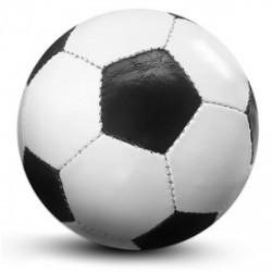 Műbőr focilabda (fekete fehér) - Sportfelszerelés - Kerti és vízes játékok