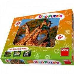 DINO - Puzzle 99 db-os, állatos DINO PUZZLE, TÁRSASJÁTÉKOK
