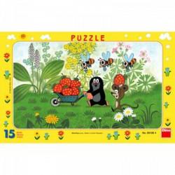 DINO - Puzzle 15 db, keretes - Kisvakond útra kel DINO PUZZLE, TÁRSASJÁTÉKOK