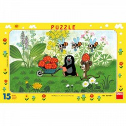 DINO - Puzzle 15 db, keretes - Kisvakond útra kel - PUZZLE játékok - Dino puzzle, társasjátékok