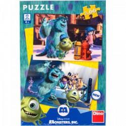 DINO - Puzzle 2x66 db Szörny Egyetem DINO PUZZLE, TÁRSASJÁTÉKOK