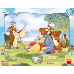 DINO - Puzzle 12 db-os, keretes - Micimackó - PUZZLE játékok - Dino puzzle, társasjátékok