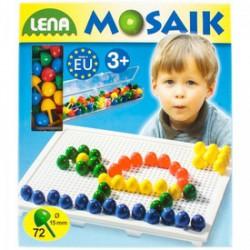 Lena - Mozaik képkirakó pötyi , 72 darabos színes - Lena golyófuttató, pötyi, műanyag játékok - Lena golyófuttató, pötyi, műanyag játékok