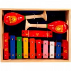 Fa hangszer készlet szájharmónikával FAJÁTÉKOK