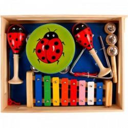 Fa hangszer készlet - katicás - Fajátékok - Fajátékok