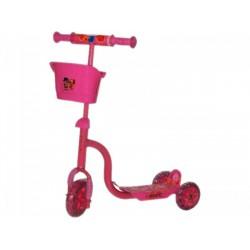 Roller háromkerekű rózsaszínű kosaras GÖRKORIK - Járművek