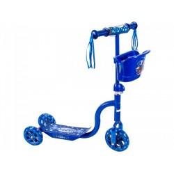 Roller háromkerekű kék kosaras GÖRKORIK - Járművek