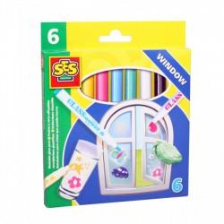 SES - Üvegfestő filctoll - lemosható 02102 - Tudomány és kreatív játék - SES kreatív játékok