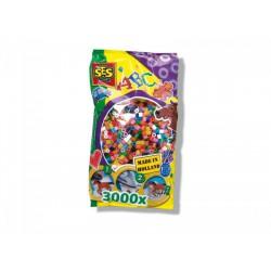 SES - Vasalható gyöngy 3000db 00771 - Lányos játékok - Lányos játékok