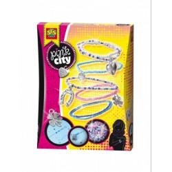 SES - Pink city - karkötő készítő szett 14322 - Tudomány és kreatív játék - Lányos játékok