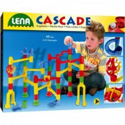 Lena Cascade golyófuttató 68 db-os - Lena golyófuttató, pötyi, műanyag játékok - Lena golyófuttató, pötyi, műanyag játékok Lena