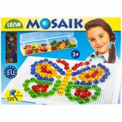 Lena - Mozaik képkirakó pötyi 120 db kristálytűvel Játék - Lena golyófuttató, pötyi, műanyag játékok