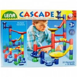 Lena - Cascade golyófuttató 41 db-os - Lena golyófuttató, pötyi, műanyag játékok - Lena golyófuttató, pötyi, műanyag játékok Lena