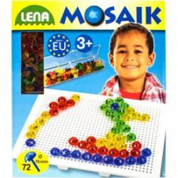 Lena Mozaik képkirakó pötyi , 72 db kristálytűvel - Lena golyófuttató, pötyi, műanyag játékok - Lena golyófuttató, pötyi, műanyag játékok Lena