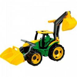 Lena - Traktor homlokrakodóval és markolóval 70 cm - Lena golyófuttató, pötyi, műanyag játékok - Bébijátékok